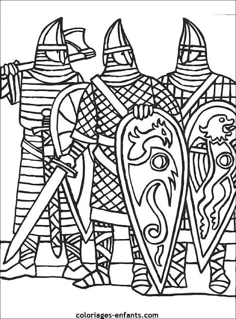 medieval coloring pages knight - photo#40