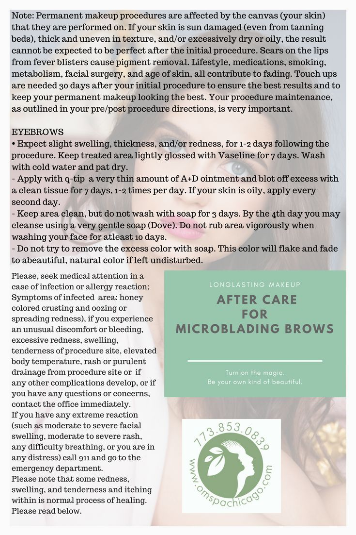 How to care for your freshly done microblading eyebrows