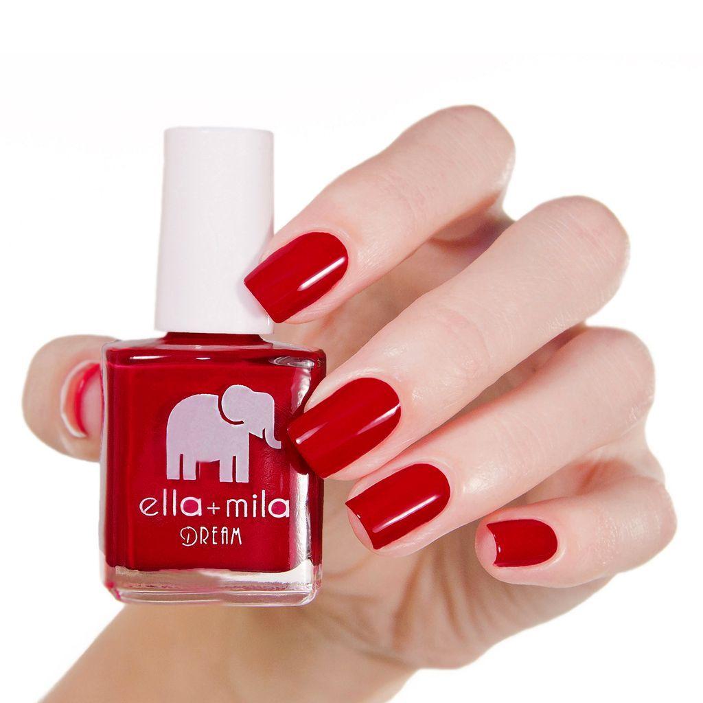 Bad Obsession Ella + Mila Nail Polish | Deep red nails, Red nail ...
