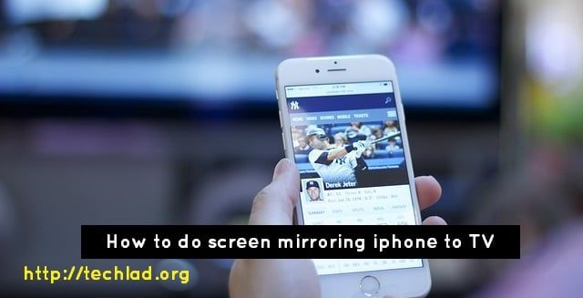 How to do screen mirroring iPhone to Samsung TV ? Here is