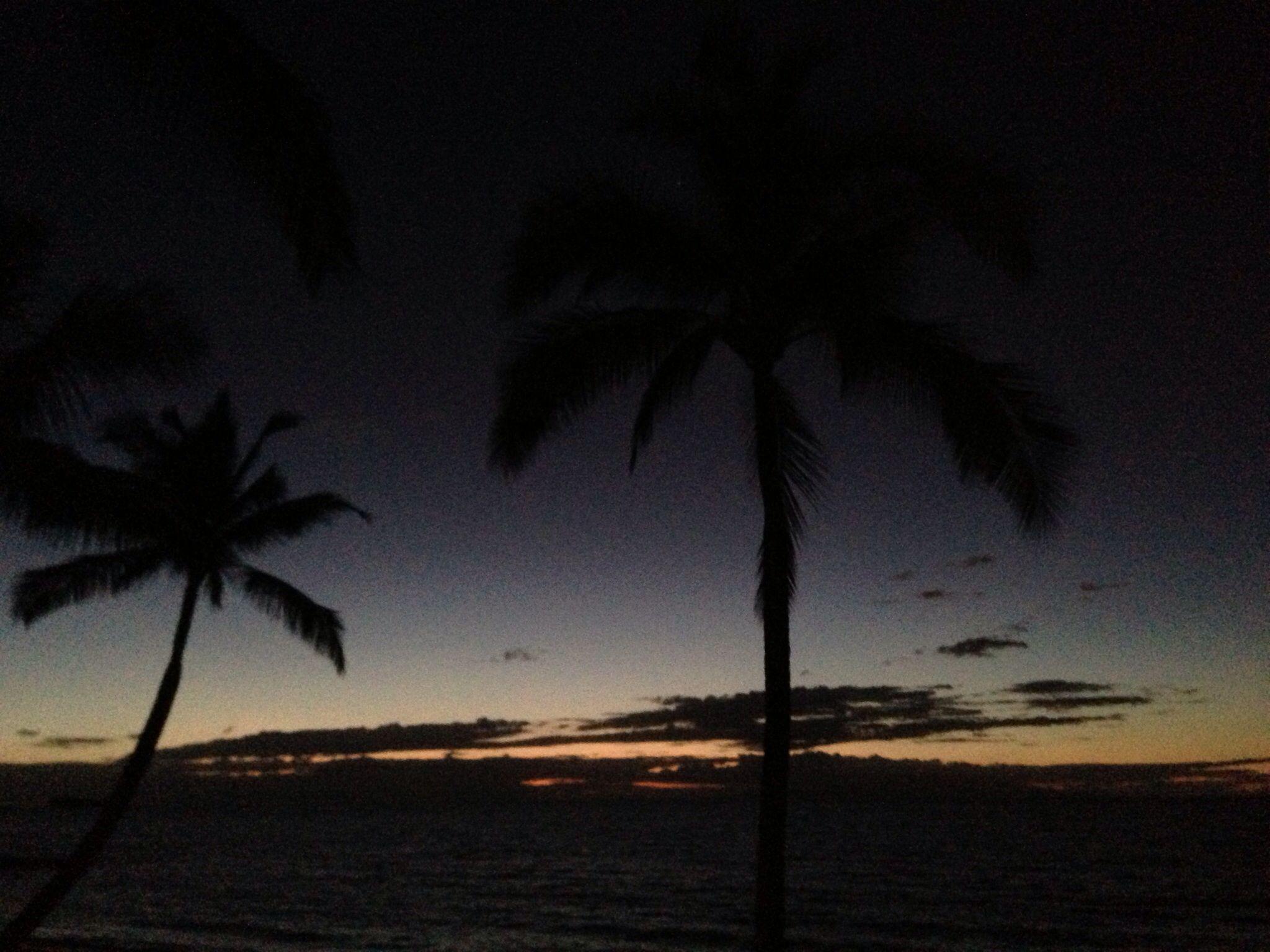 Last light Hawaii