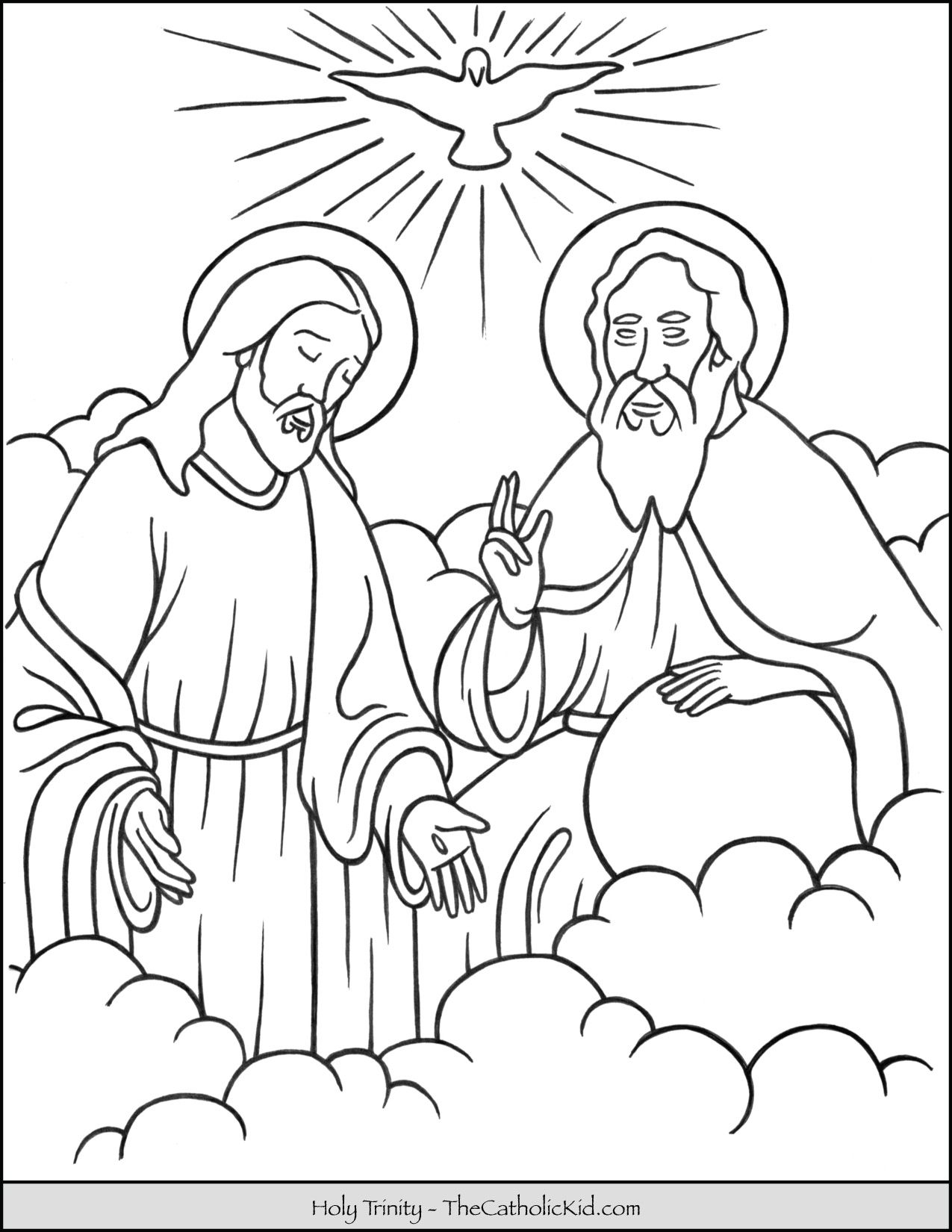 Holy Trinity Coloring Page Jesus Coloring Pages Catholic Coloring Sunday School Coloring Pages