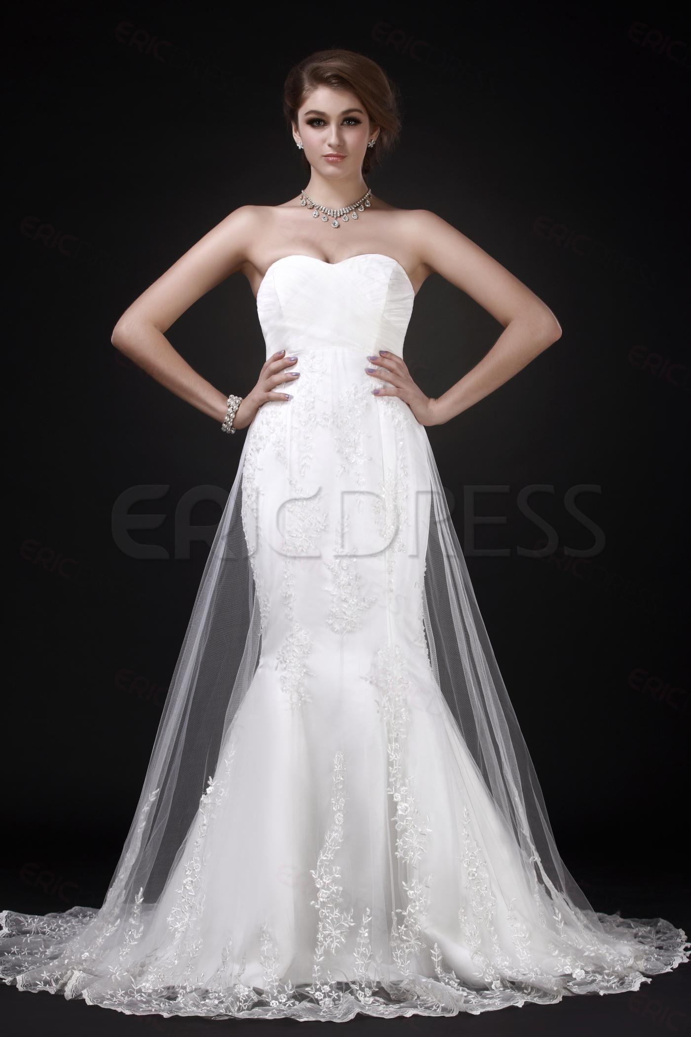 Big girl wedding dresses  Charming MermaidTrumpet Sweetheart Neckline ChapelLength Roxyus