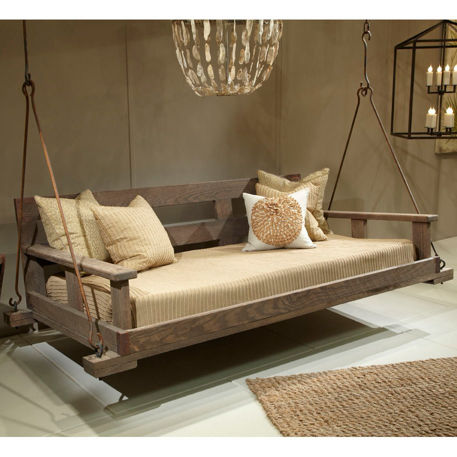Lowcountry originals driftwood swinging bed laylagrayce for Outdoor swing bed