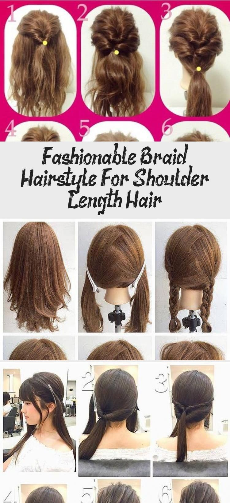 Fashionable Braid Hairstyle For Shoulder Length Hair Pinuphairtutorial Hairtut Braid Fashionable Ha In 2020 Shoulder Length Hair Hair Lengths Braided Hairstyles