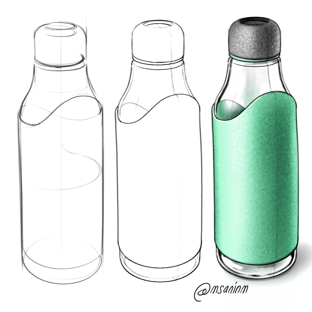 Design Sketchbook 2018 On Behance Dibujos De Botellas Diseno Del Bosquejo Diseno De Botella