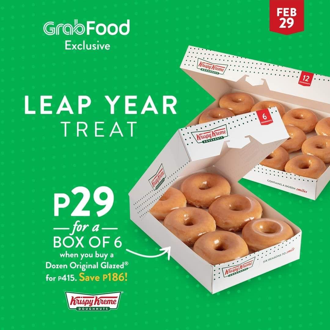 Krispy kreme x grabfood leap year p29 promo original