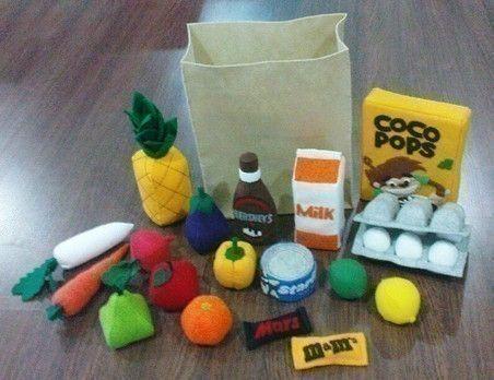 Felt Grocery Set