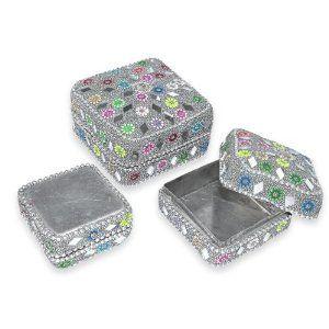 Small Pill Boxes Decorative Silver Colored Jewelry Box Small Jewelry Box Jewelry Box Womens