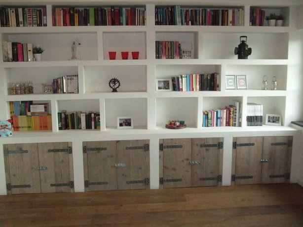 Boekenkast Muur op Pinterest