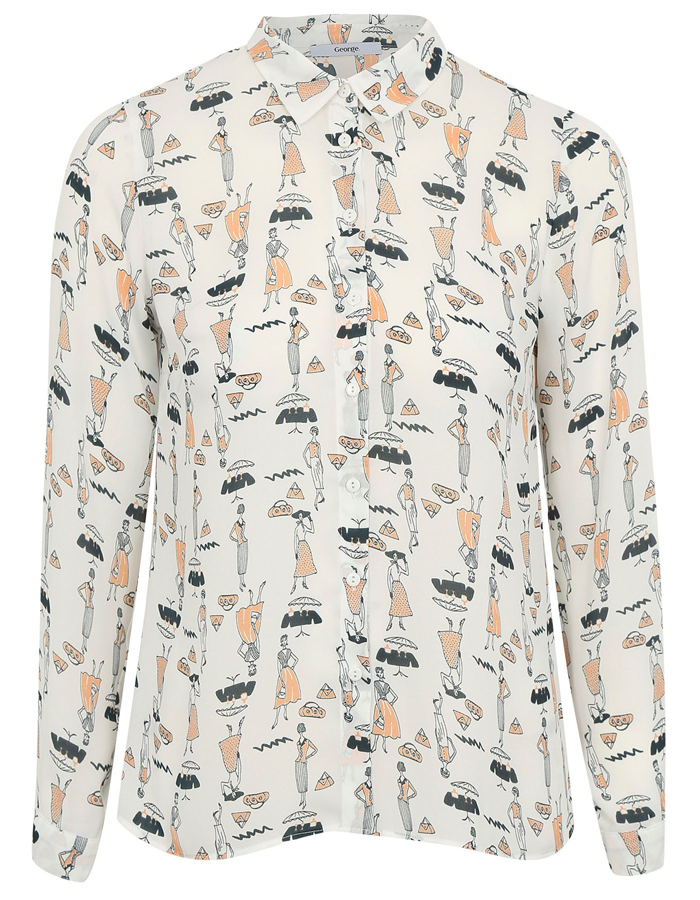 Lady Print Blouse | Women | George at ASDA | Wardrobe | Pinterest ...