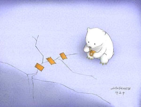 Pin De Monica Silvia En Disenos Oso Polar Dibujo Oso Polar Arte Ambiental