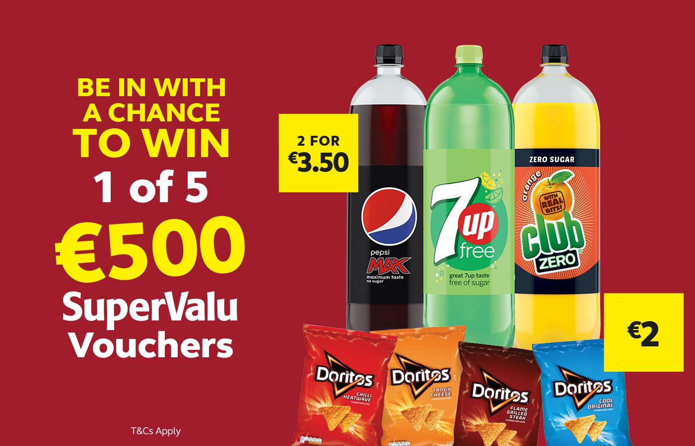 Win 1 of 5 €500 SuperValu Vouchers Competition, How to