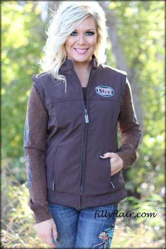 Cowgirl Tuff Vest in BROWN   Cowgirl