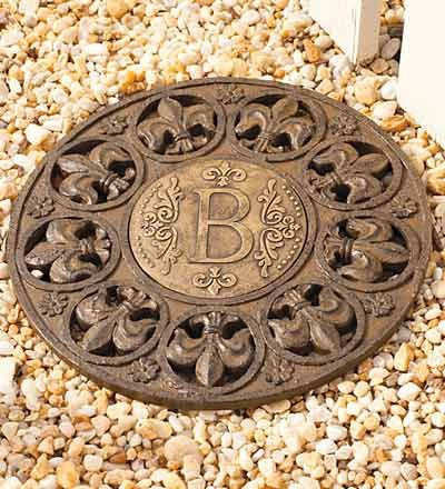 Merveilleux Monogram Stepping Stone B. I Want This To Put In My Front Yard Garden.