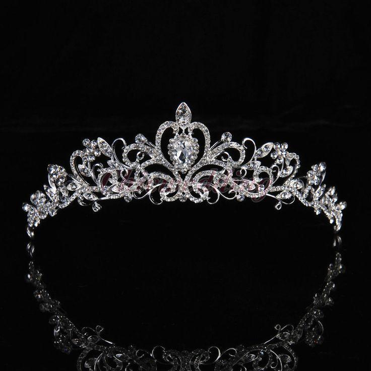 Braut Prinzessin Kristall Tiara Diademe Hochzeit Strass Krone Haarschmuck Band - Braut, Brautkleider, Brautschuhe, Brauthaar, Braut Make-up #weddingcrown