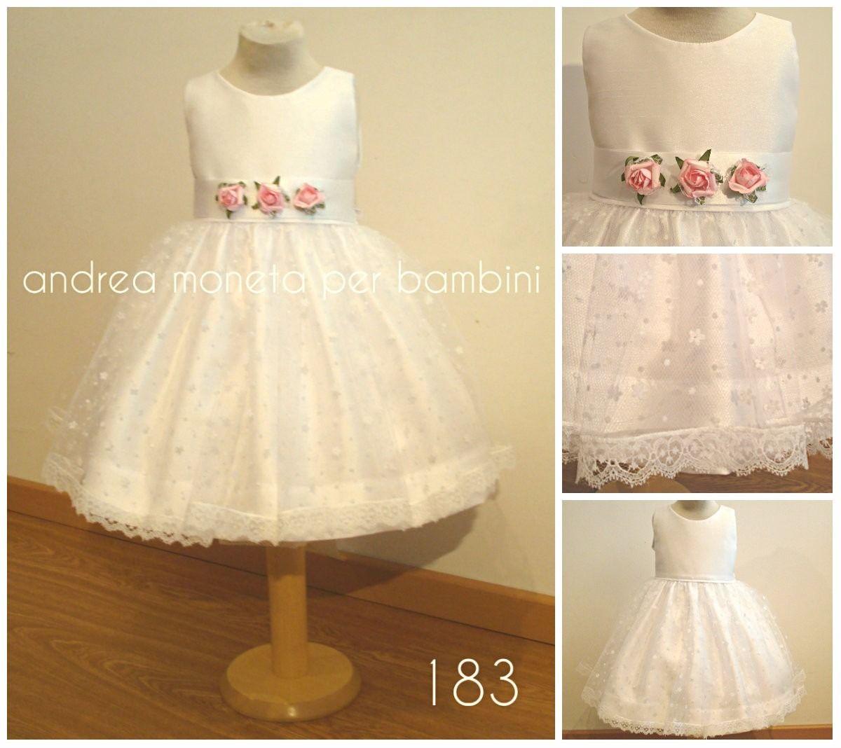 c883f393a Vestido Bautismo Fiesta Cumple Bebe Nena Andrea Moneta 183 -   2.990 ...