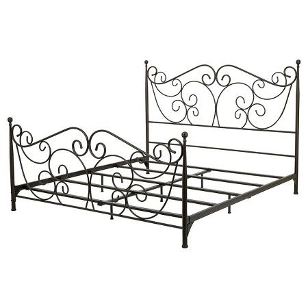 lorelei queen metal bed frame dark bronze christopher knight home target