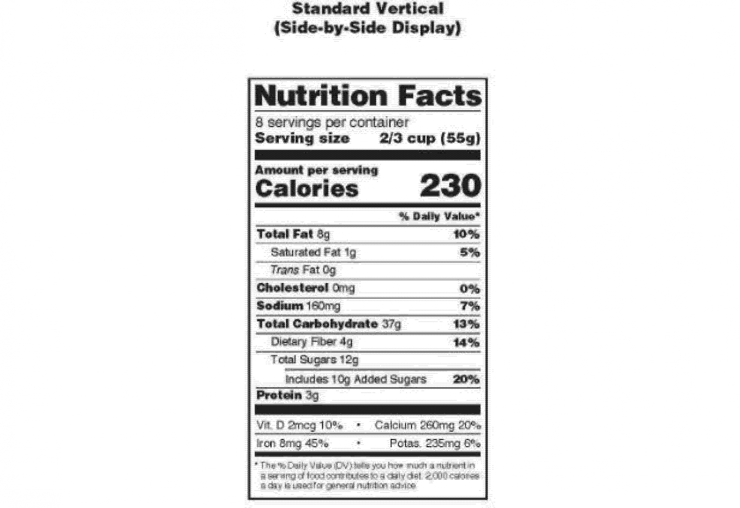 Ingredient Label Template Word Lovely Federal Register Food Labeling Revision Of The Nutrition Label Templates Ingredient Labels Labels