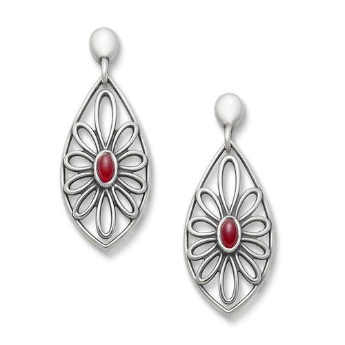 Sterling Silver Fire Opal Florette Ear Posts from James Avery Jewelry on Catalog Spree