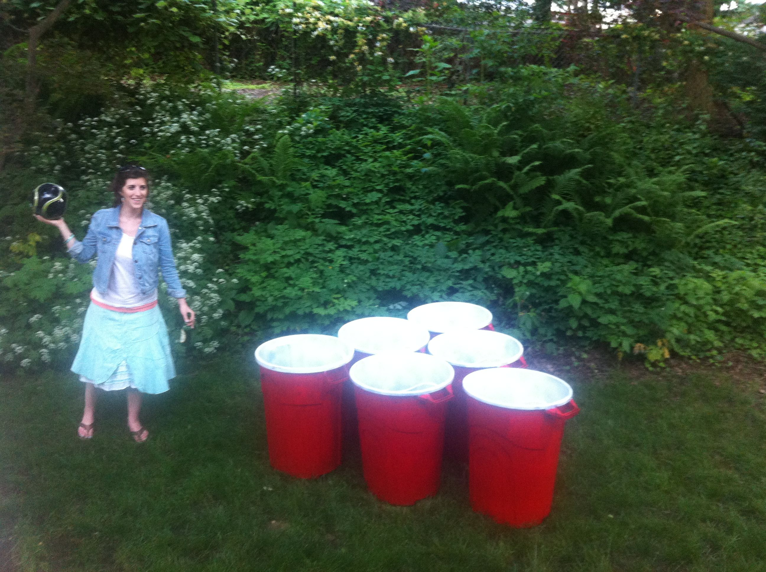 Our Version Of Giant Beer Pong We Call Ours Bucket
