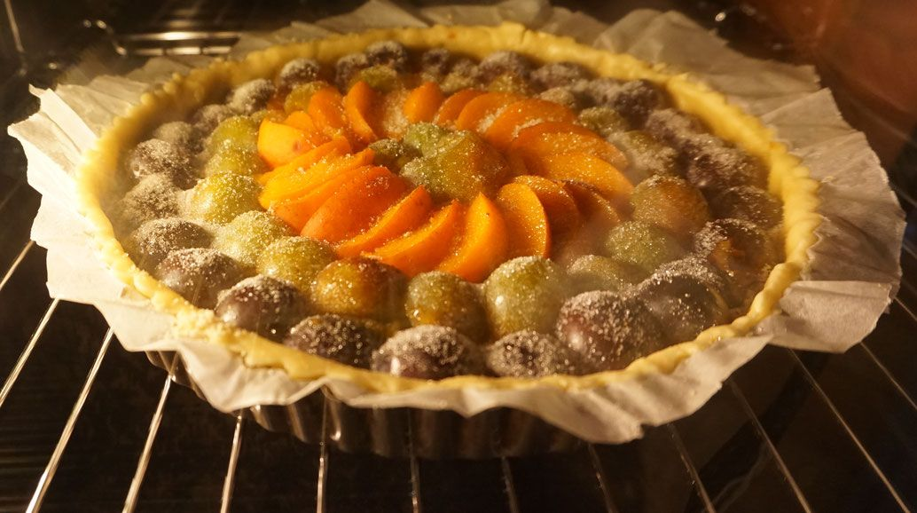 "Tarte aux fruits ""bio"" issus du verger"