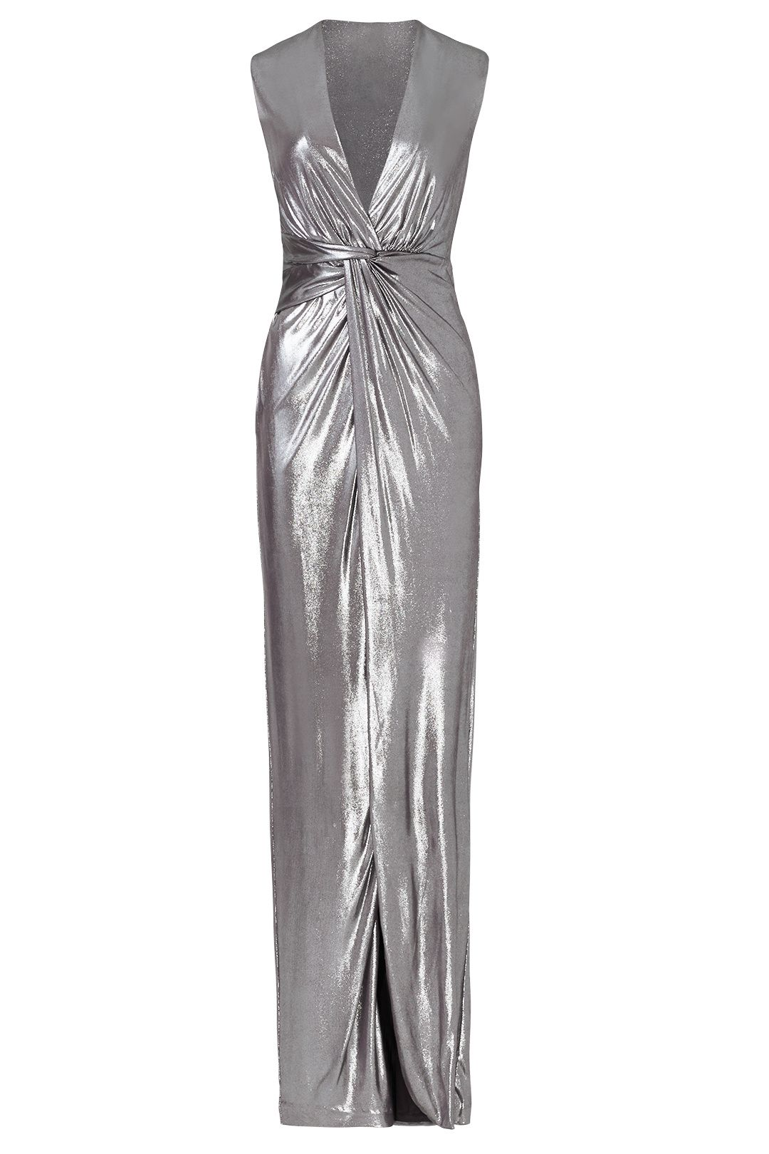 Silver Twist Column Gown | Halston heritage, Columns and Gowns