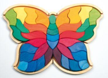 Großes Legespiel Schmetterling Holzspielzeug Grimms