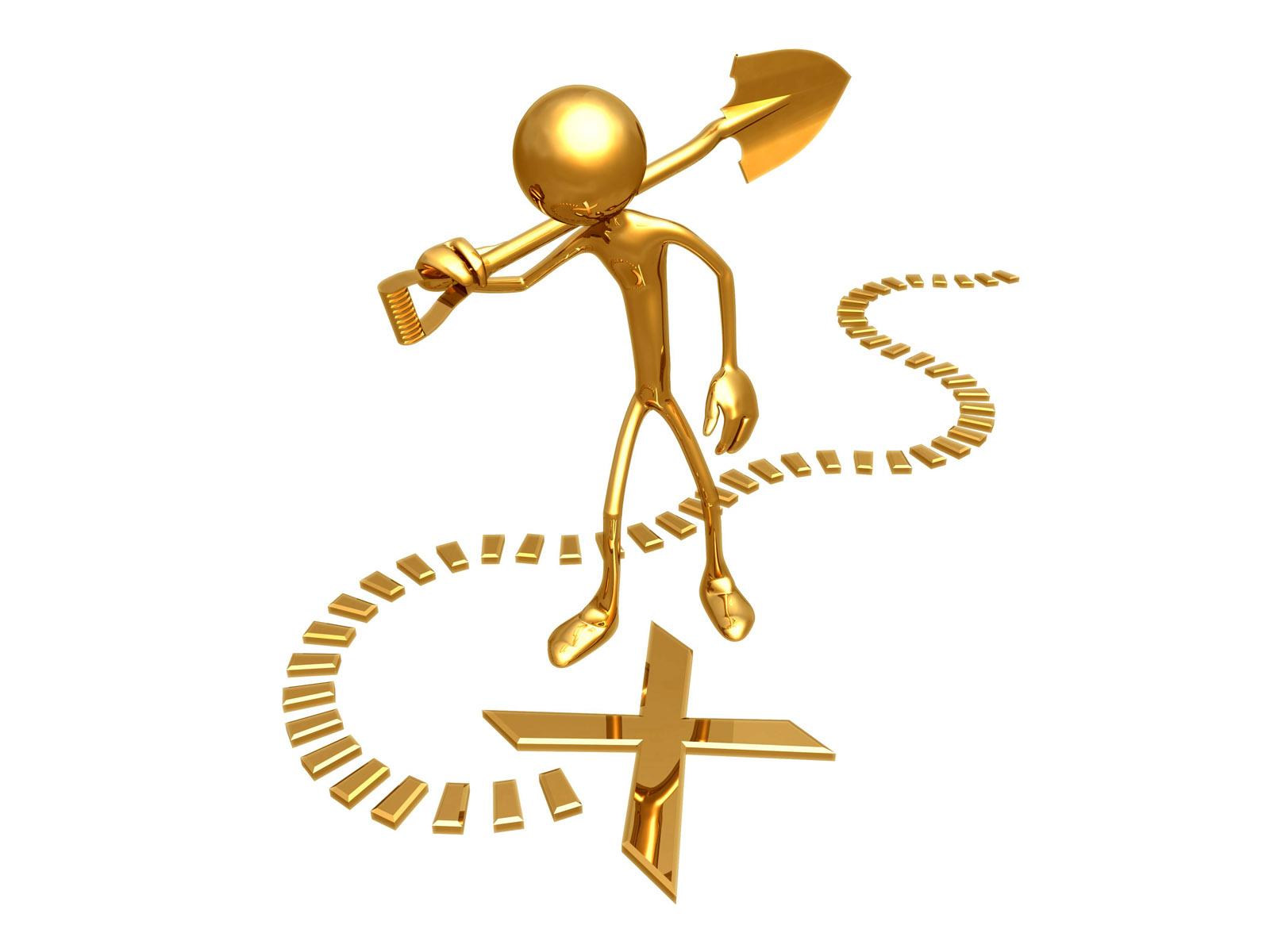 Картинка золотого человечка