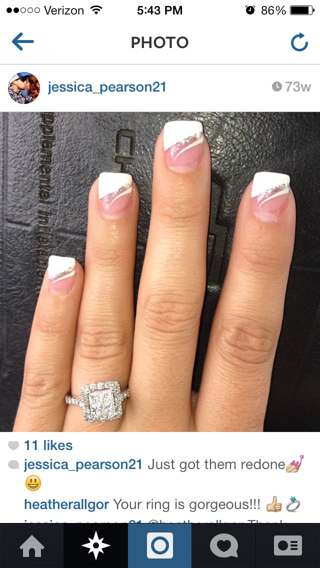 Pin By Janet King On Health And Beauty Bride Nails Nail Designs French Tip Gel Nails