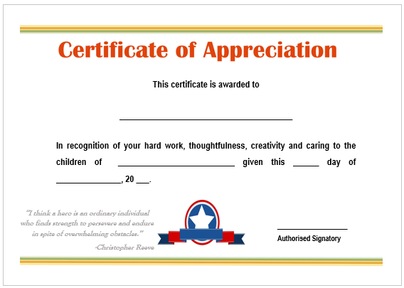 image result for certificate of appreciation for best