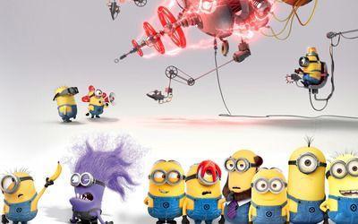 Cute Minions In Despicable Me 2 Wallpaper