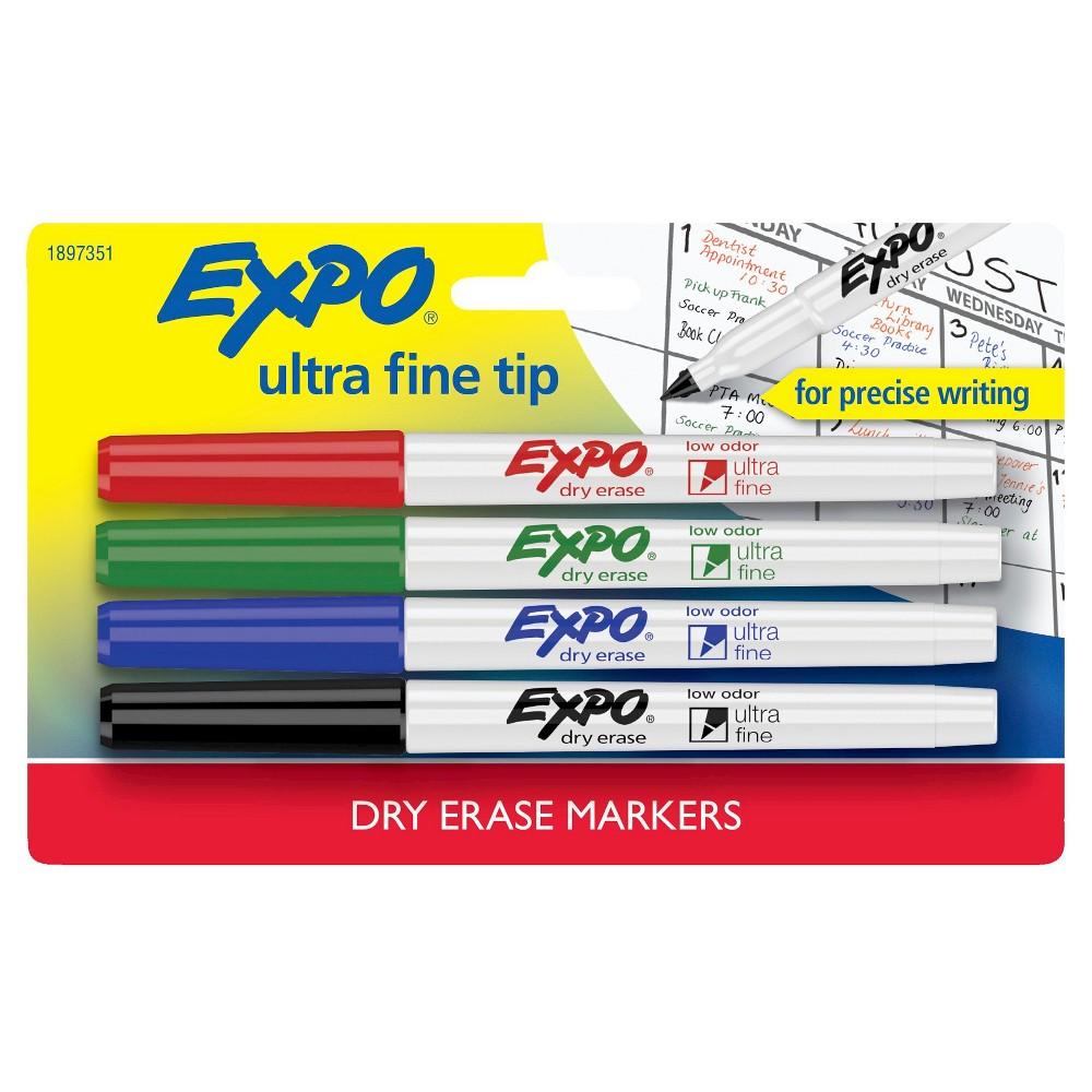 4pk Dry Erase Marker Ultra Fine Tip Multicolor Expo Dry Erase Markers Dry Erase Markers