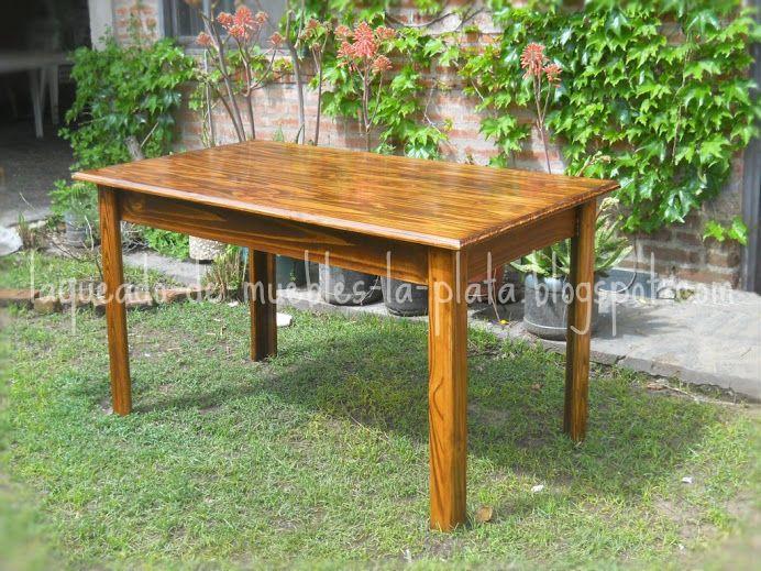 Muebles de madera: Restauración, lustre y laqueado: Teñido Mesa de ...