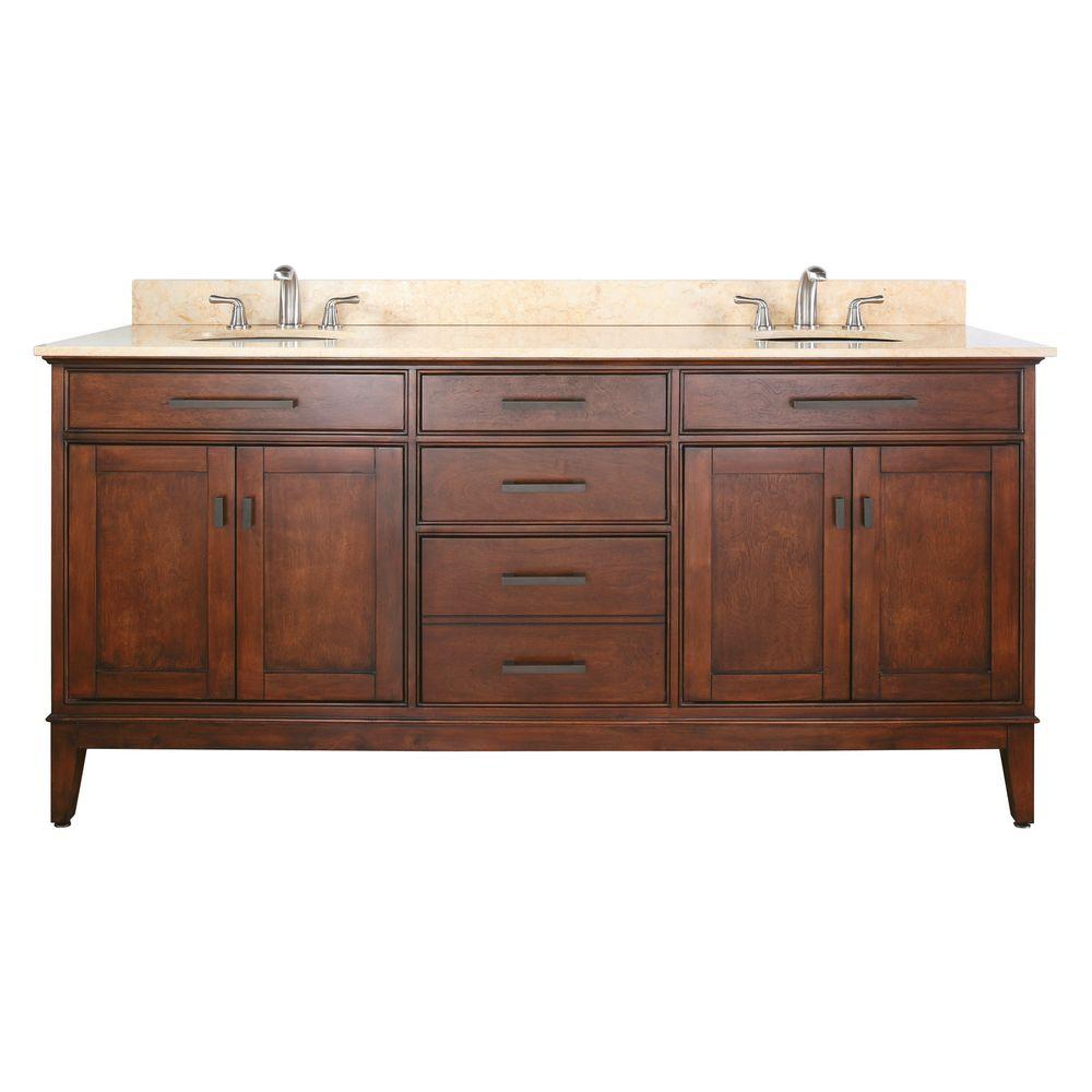 Charmant D X 34 In. H Vanity Cabinet Only In Tobacco