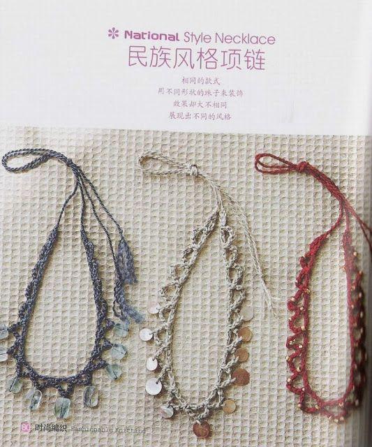 2 Gargantillas de Crochet Faciles - Patrones Crochet | Bisuteria ...