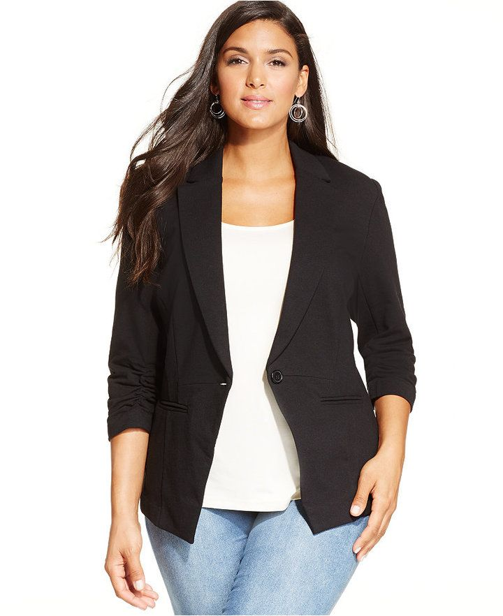 outstanding plus size blazer outfits