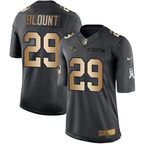 Nike Patriots #29 LeGarrette Blount Black Men's Stitched NFL Limited