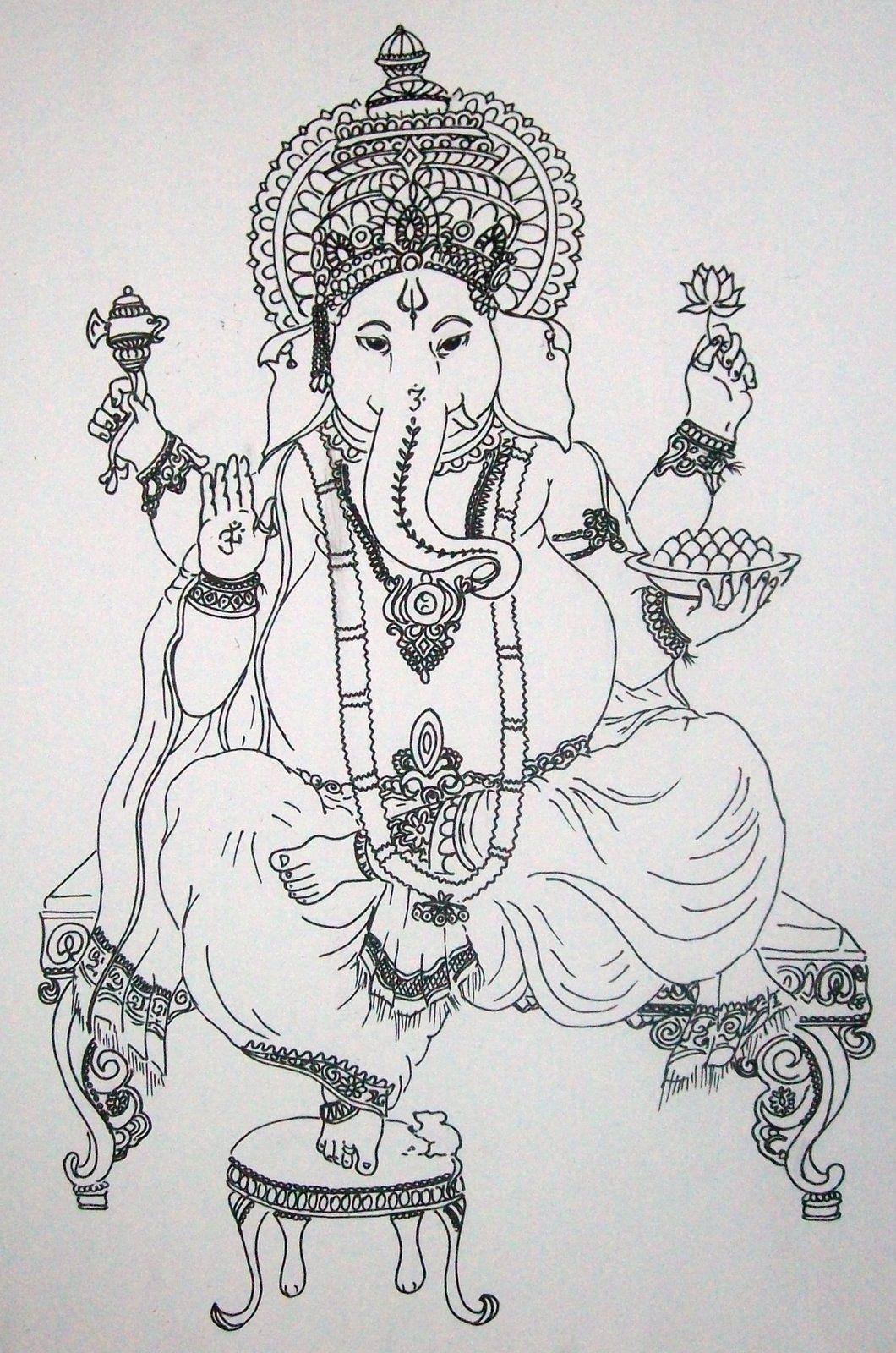 el blog de la Bruja: Ganesh   Desenhos para Colorir   Pinterest ...