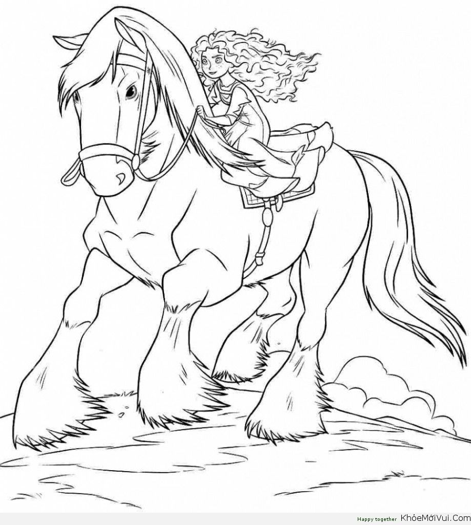 Ausmalbilder Pferd Mit Prinzessin : Tranh To Mau Cong Chua Disney 47 Coloring 5 Pinterest