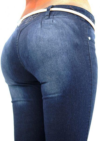 Dark Denim Butt Lift Jeans Featuring A 2 Button Closure -2863