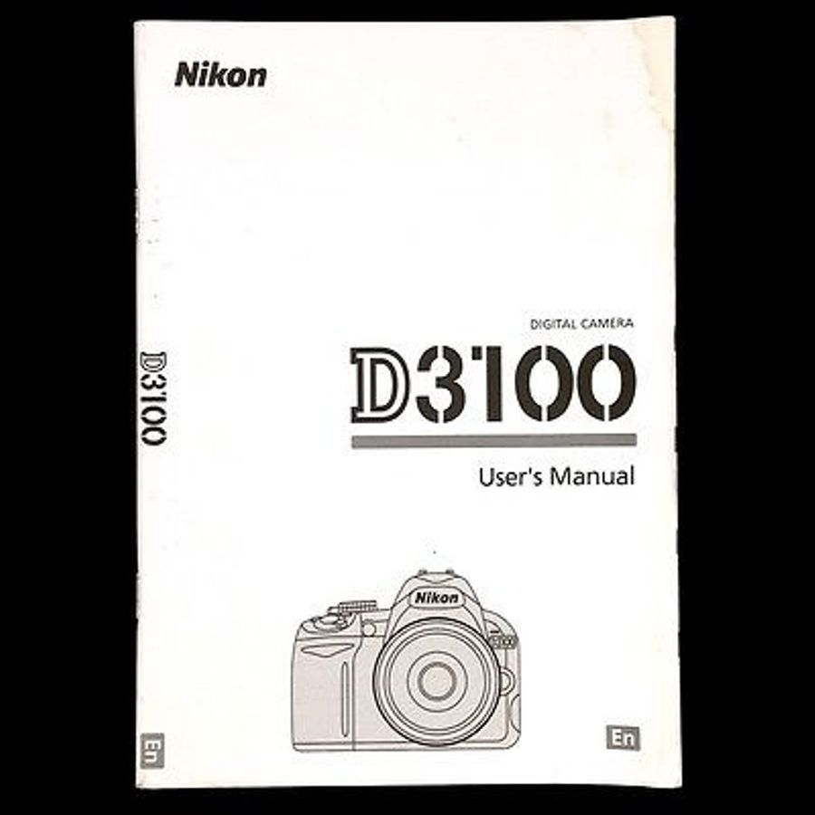 Nikon D3100 Digital Camera Owners Instruction Manual Nikon Digital Camera Nikon Digital Camera Nikon D3100