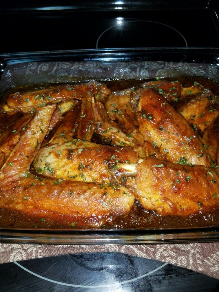 Baked turkey wings Tammie's Home Cooking in 2019 Baked