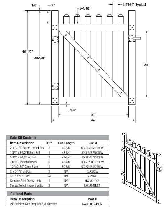 Picket fence gates |  gates, fence gate designs, fence