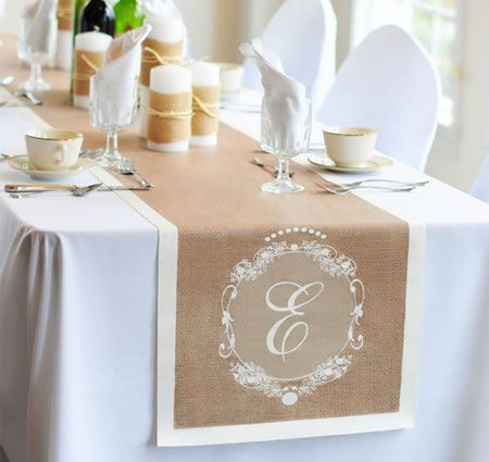Country Chic Wedding Table Runner Runners Personalized