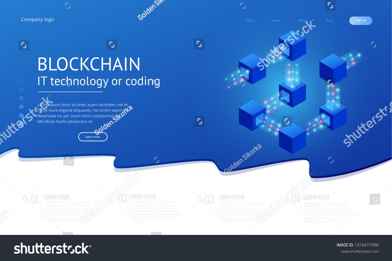 Isometric Concept Of Quantum Computers Blockchain It Technology Or Coding Information Blocks In Cyberspace Quantum Computer Blockchain Technology Blockchain