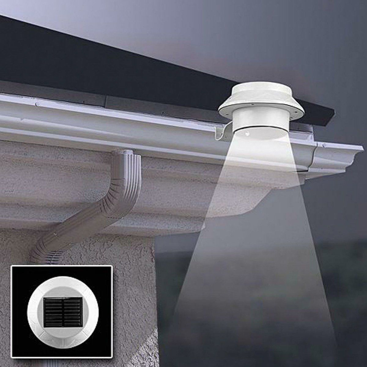 4 98 Outdoor 3 Led Solar Ed Wall Mount Fence Garden Gutter Roof Yard Light Lamp Ebay Home
