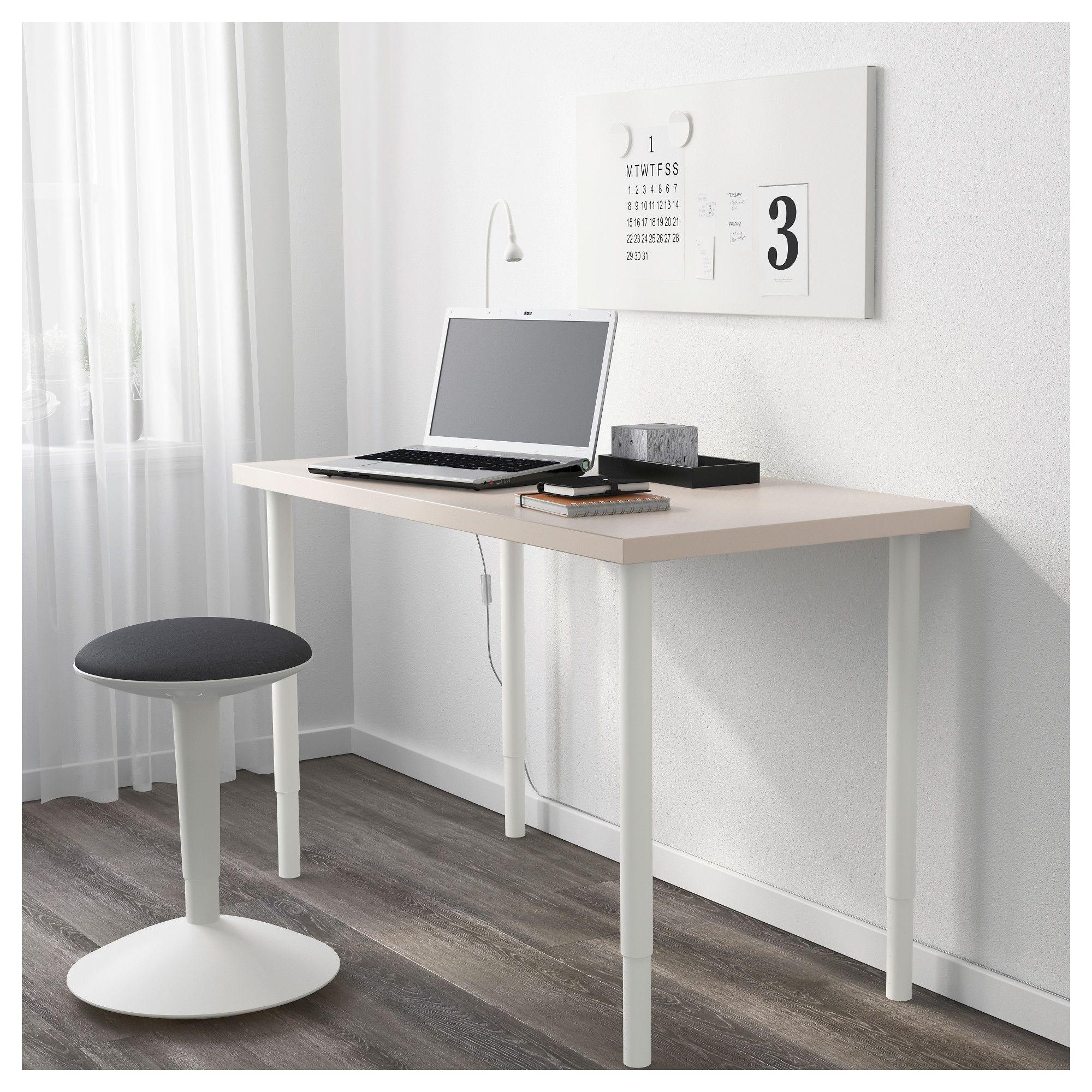Linnmon Olov Table Geometric Beige White Beige And Products # Ikea Uppleva Pied
