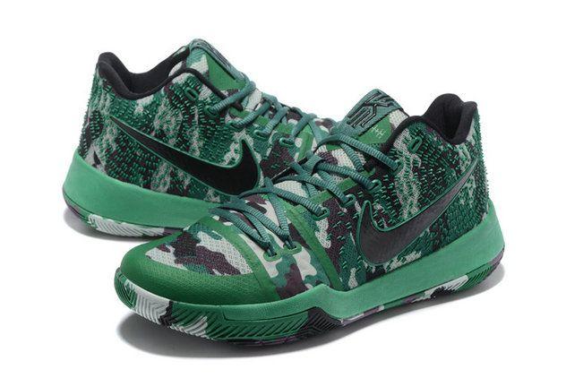 Nike Kyrie 3 Green Camo Black