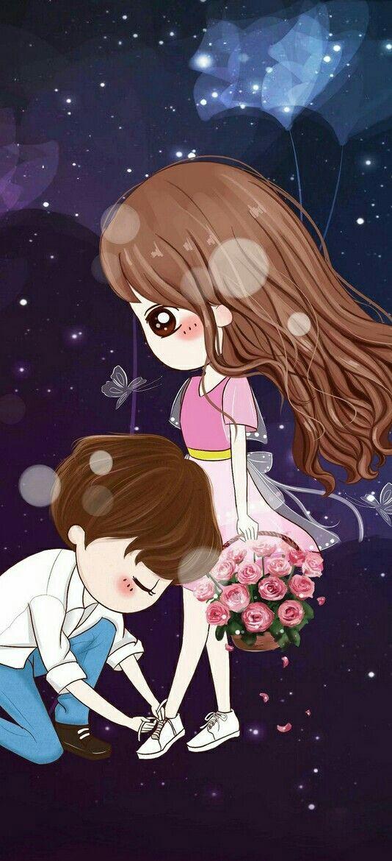 Pin By Allenma Relano On Casais Animes Cute Couple Wallpaper Cute Wallpapers Cute Couple Cartoon